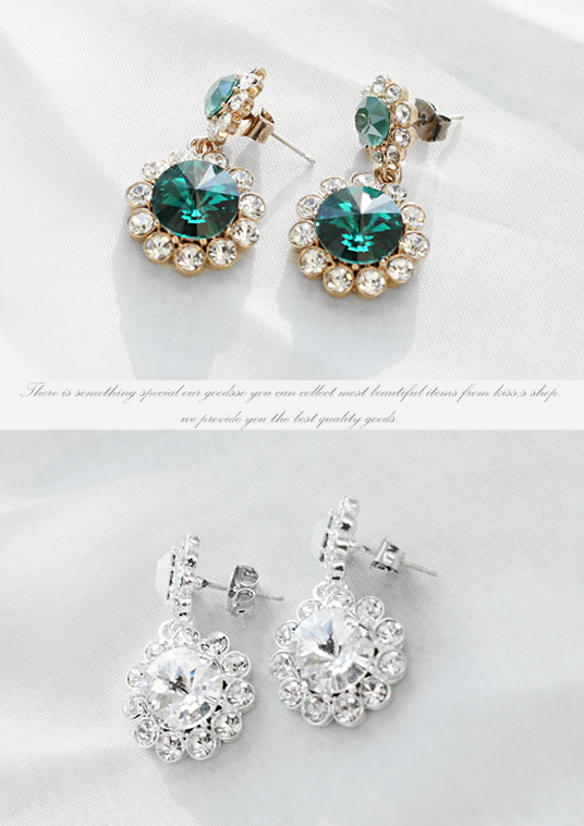 핫키스lovely flower earring(2 color)