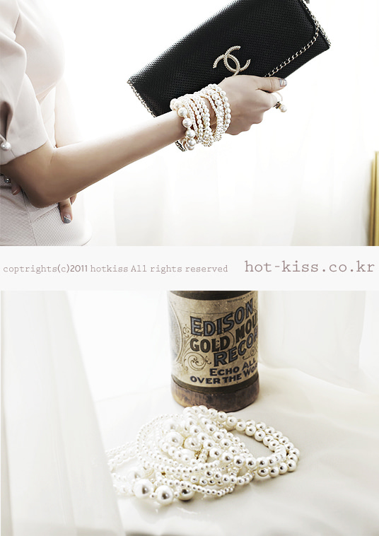 핫키스sophia pearl bangle