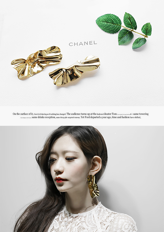 핫키스gold leaves earring