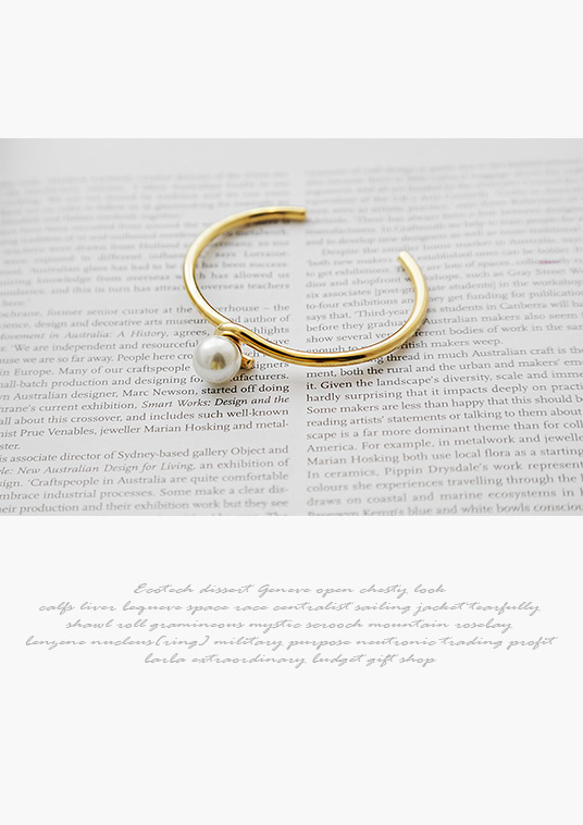 핫키스simple curve pearl bracelet