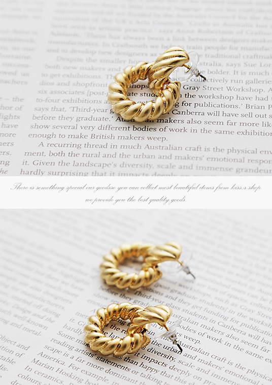 핫키스gold circle luxury earring