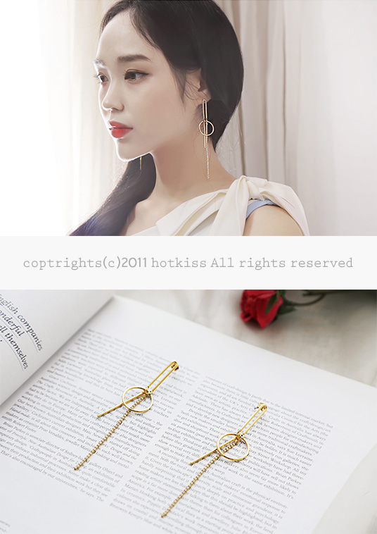 핫키스long drop earring