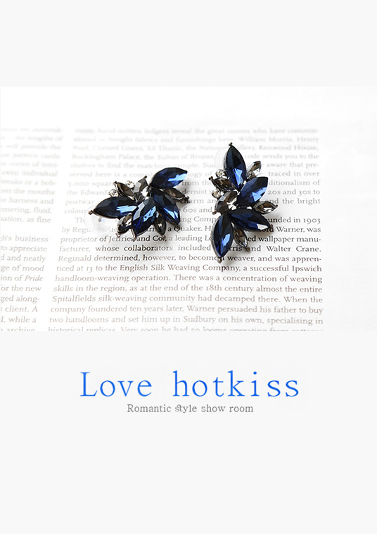 핫키스blue leaf earring